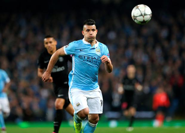 City striker Sergio Aguero. Photo: PA