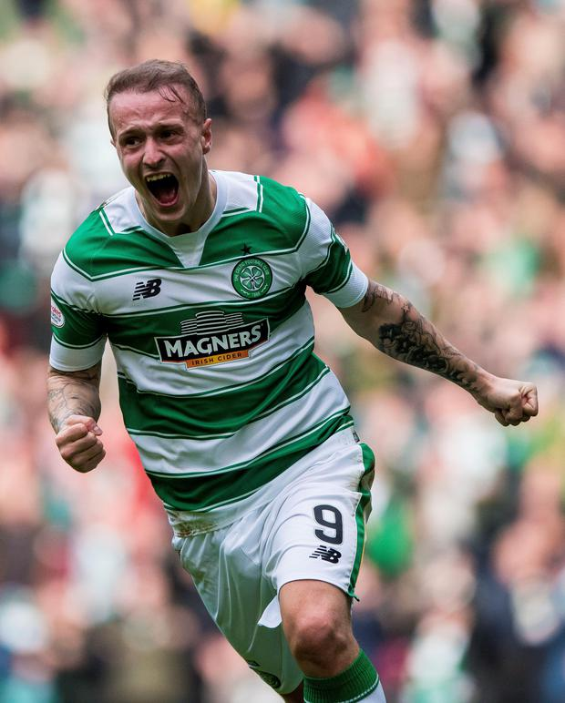 Celtic striker Leigh Griffiths will play a pivotal role in tomorrow's Scottish FA Cup clash with bitter rivals Rangers Photo: PA