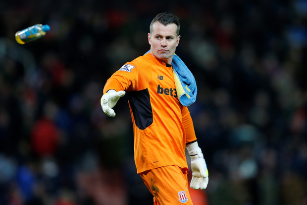 Stoke City's Shay Given conceded four goals last night but will be glad he made a return to Premier League action after his injury lay-off. Photo: Reuters
