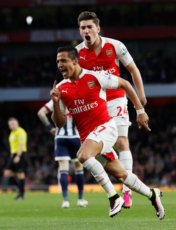 Arsenal's Alexis Sanchez Photo: Reuters
