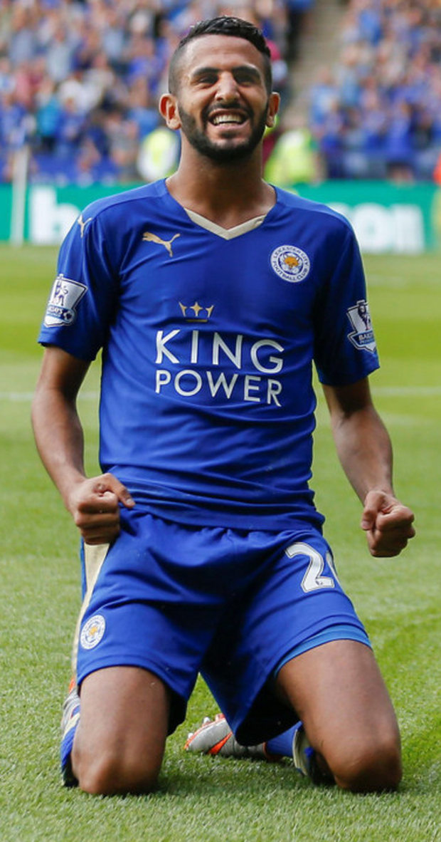 Leicester's Riyad Mahrez Photo: PA