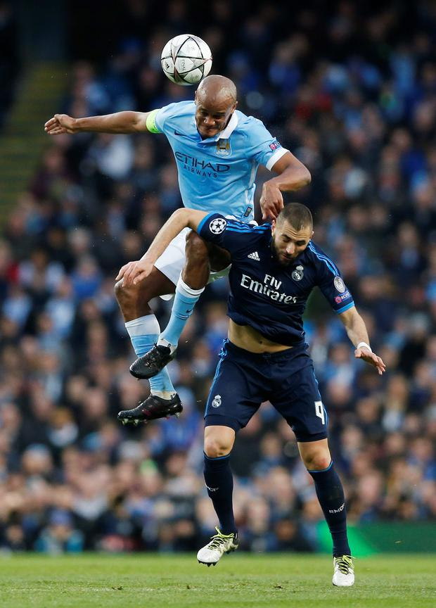 City's Vincent Kompany Photo: Reuters