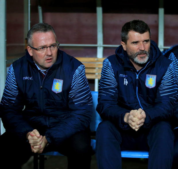 (l-r) Paul Lambert and Roy Keane Photo: PA