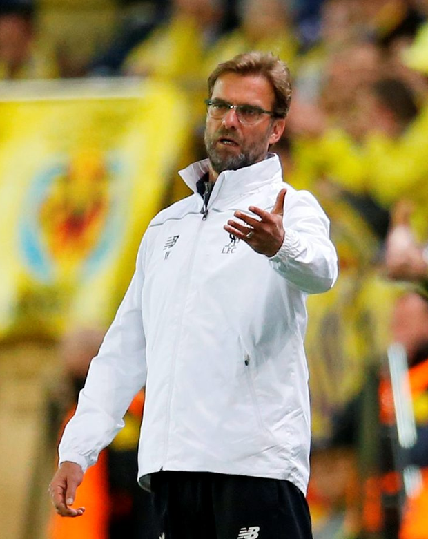 Football Soccer - Villarreal v Liverpool - UEFA Europa League Semi Final First Leg - El Madrigal Stadium, Villarreal, Spain - 28/4/16 Liverpool manager Juergen Klopp and Villarreal coach Marcelino Garcia Toral Reuters / Albert Gea Livepic EDITORIAL USE ONLY.