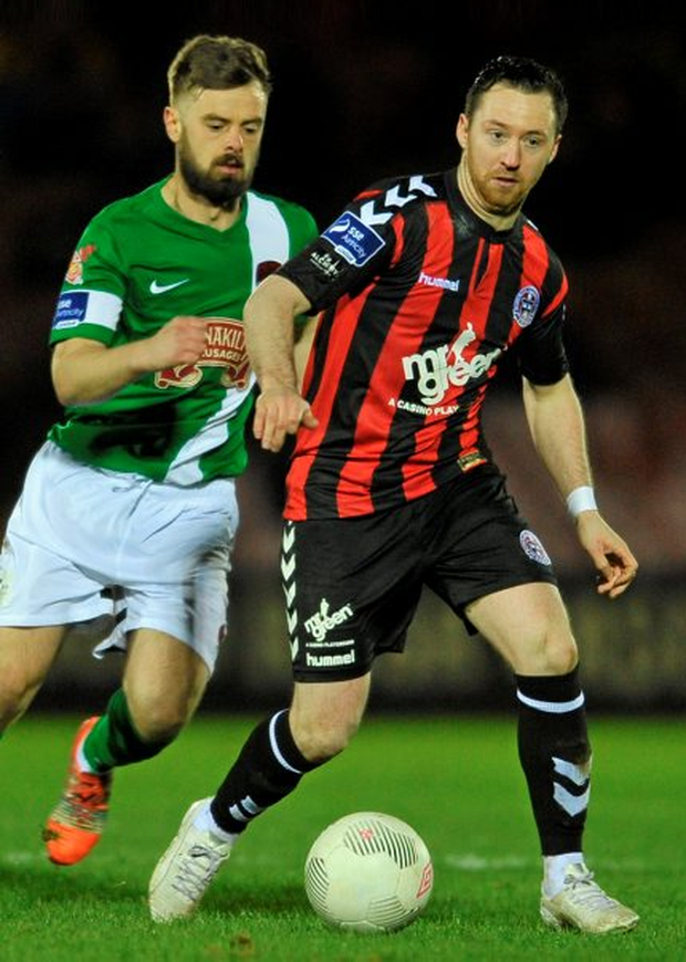 Bohemians' Paddy Kavanagh, pictured here (right) in action against Cork City's Greg Bolger Photo: Sportsfile