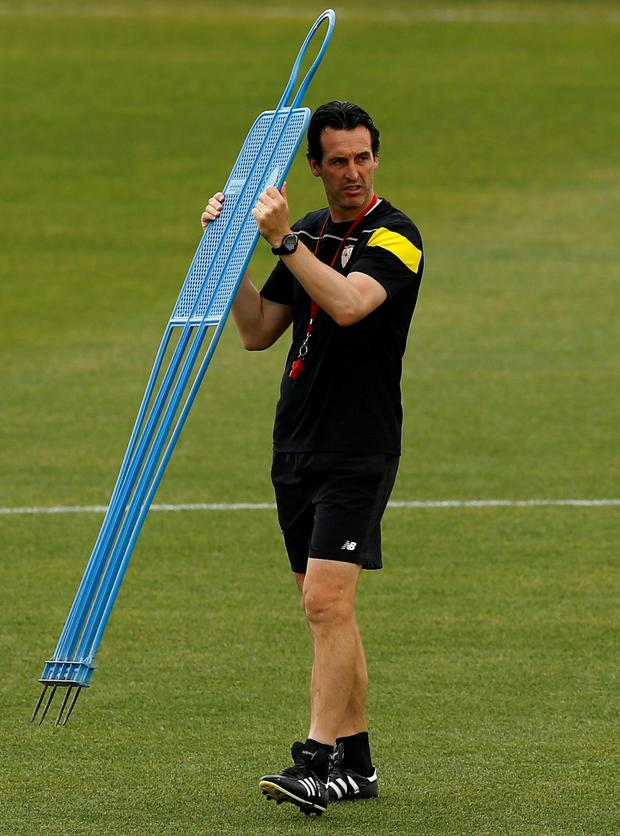Sevilla boss Unai Emery. Photo: Marcelo del Pozo/Reuters