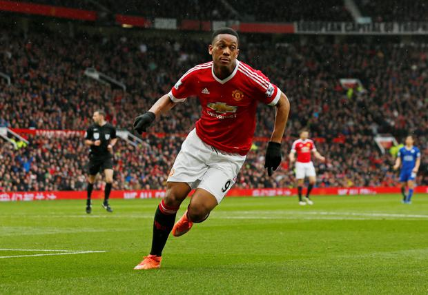 Anthony Martial. Photo: Jason Cairnduff/Reuters