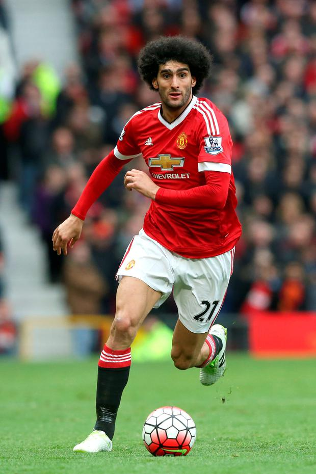 Manchester United's Marouane Fellaini. Photo: PA