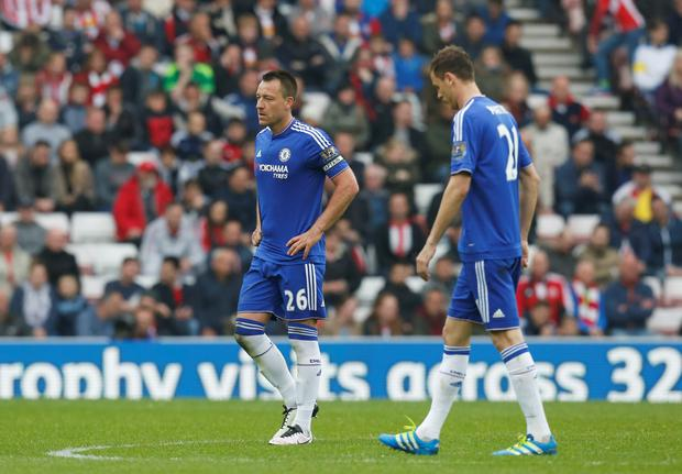 Chelsea skipper John Terry (left)