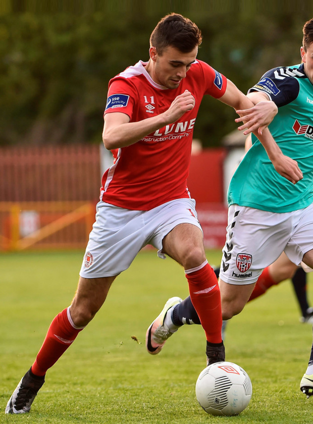 St Patrick's Athletic midfielder Mark Timlin is hoping to get back to winning ways in tonight's Premier Division clash with Finn Harps at Richmond Park Photo: Sportsfile