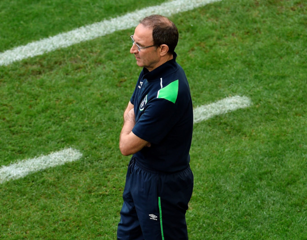 Ireland manager Martin O'Neill on the sideline during the Euro 2016 match against Belgium. Photo: Sportsfile