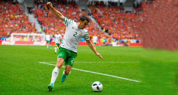 Seamus Coleman in action for Ireland during the Group E match against Belgium. Pic: Sportsfile