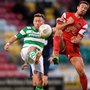 Shamrock Rovers' Patrick Cregg and Cork City's Gearoid Morrissey. Photo: Sportsfile