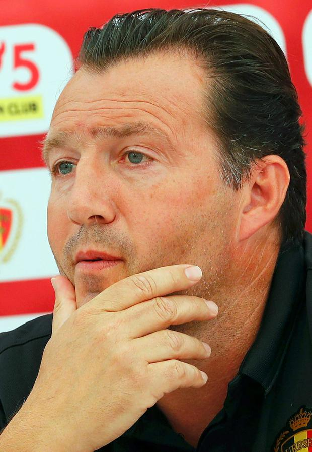 Belgian coach Marc Wilmots. Picture credit: Reuters