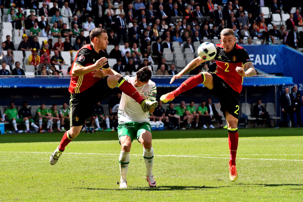 Spurs' Toby Alderweireld, in action for Belgium.