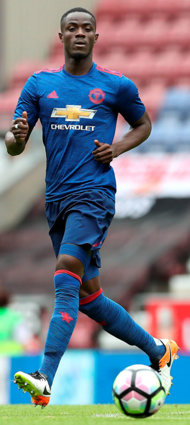 Manchester United's Eric Bailly is pictured during the pre-season friendly match against Wigan at the DW Stadium last Saturday. Photo: PA Wire/Martin Rickett