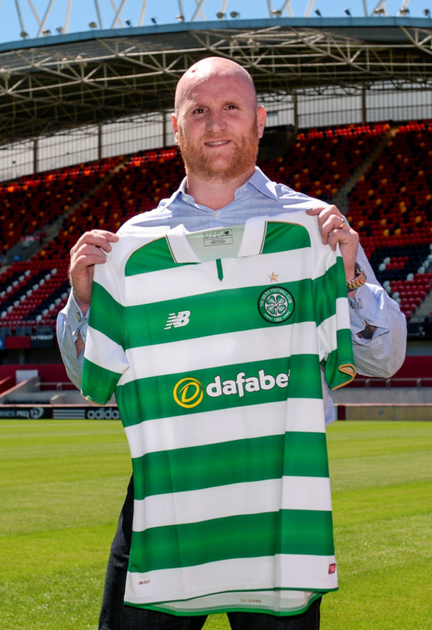 Celtic's John Hartson. Photo: Piaras Ó Mídheach/Sportsfile