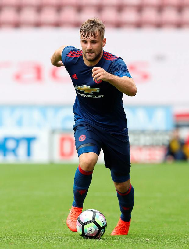 Man United's Luke Shaw. Pic: PA
