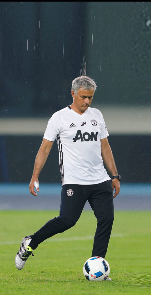 Manchester United coach Jose Mourinho during a training session. Picture Credit: Getty Images