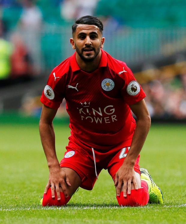 Leicester's Riyad Mahrez. Photo: Craig Brough/Reuters