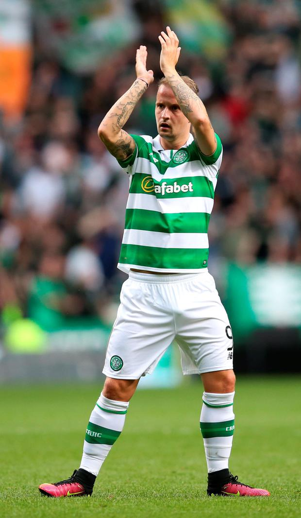 Celtic's Leigh Griffiths. Photo: PA Wire
