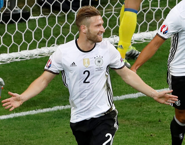 Shkodran Mustafi, pictured in action for Germany during Euro 2016. Photo:Darko Vojinovic