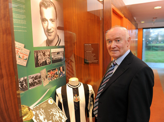 The late Liam Tuohy, pictured here back in 2010 at the launch of an alcove in his honour at the FAI's headquarters in Abbotstown, Dublin. Pic: Sportsfile