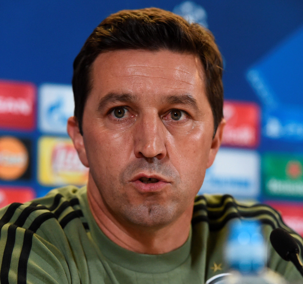 Manager Besnik Hasi. Photo: Sportsfile