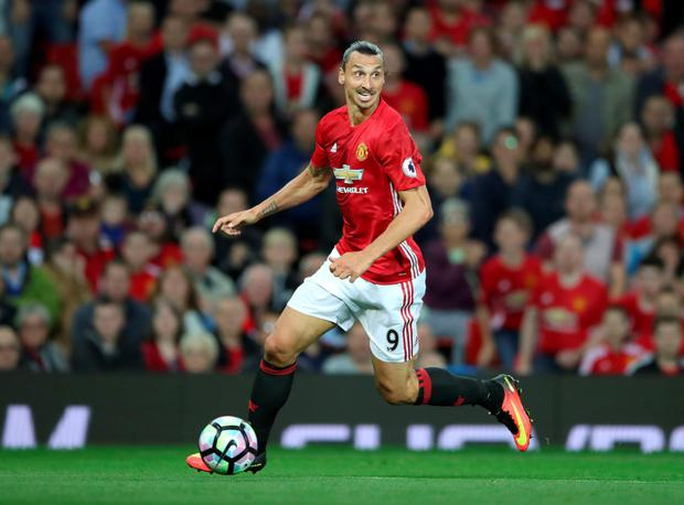 Zlatan Ibrahimovic. Photo: PA Wire