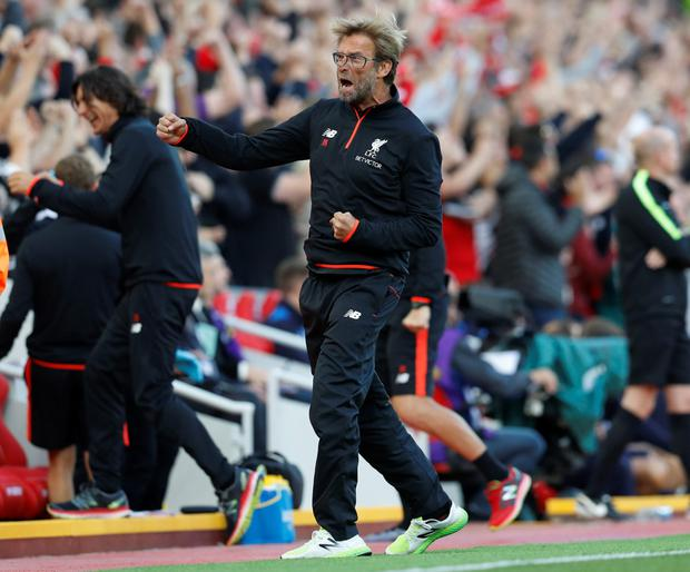 Jurgen Klopp has called on supporters to focus on the team and the result and not him following Saturday's 4-1 win over Premier League champions Leicester