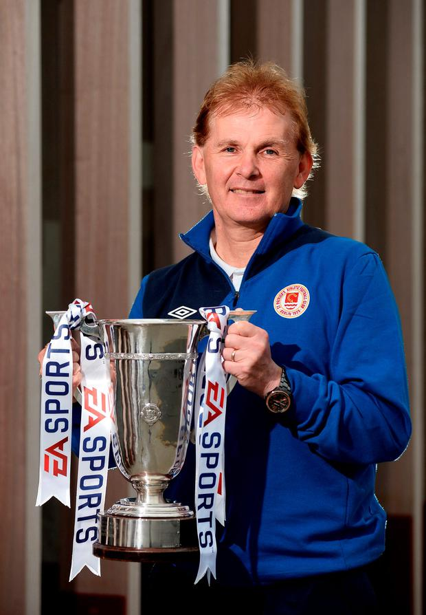 St Patrick's Athletic manager Liam Buckley pictured at the EA Sports Cup Media Day. Photo: Sam Barnes/Sportsfile