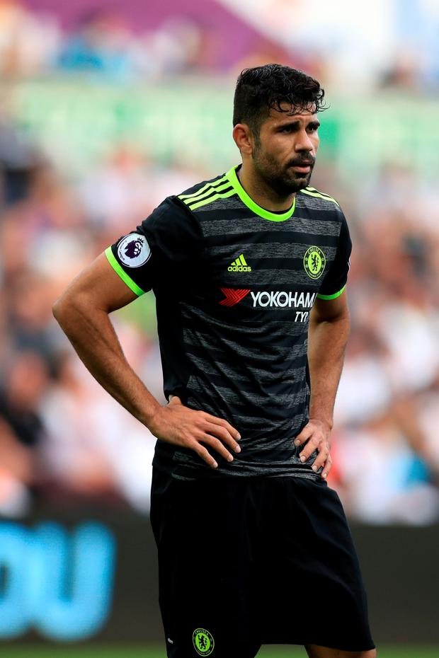 Chelsea's Diego Costa. Photo: PA