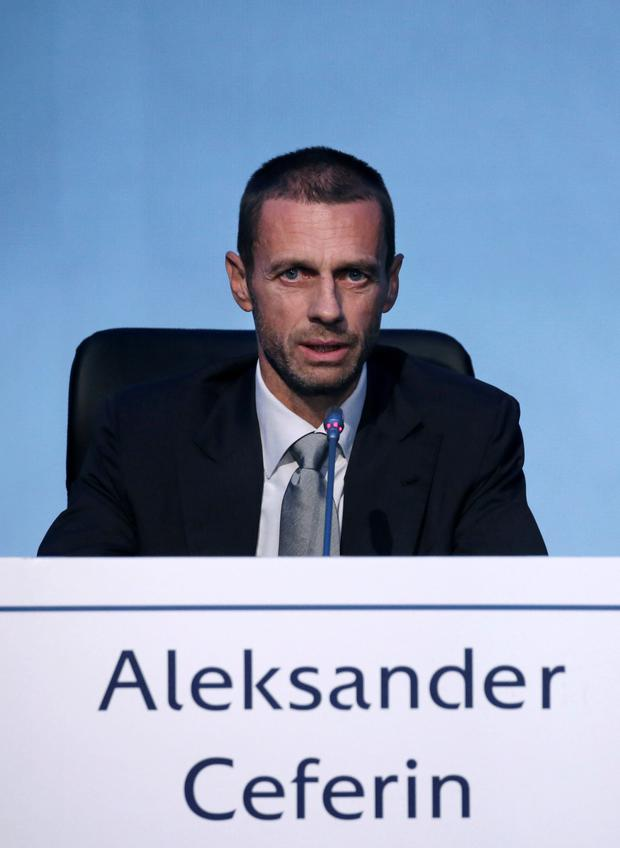New UEFA president Aleksander Ceferin. Photo: Reuters