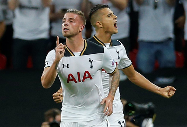 Spurs celebrate their goal