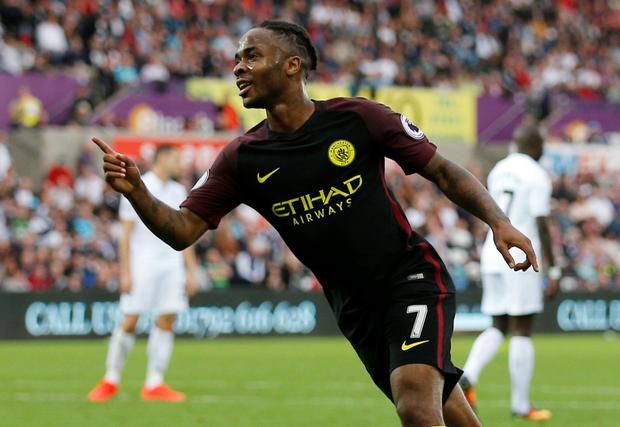 Raheem Sterling. Pic: Reuters