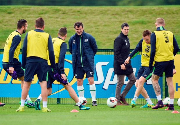 Keane during squad training in Abbotstown. Pic: Sportsfile