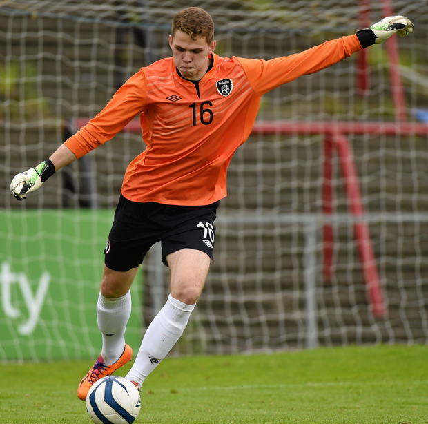 Goalkeeper Liam Bossin is hopeful of playing in this evening's Euro 2017 Under-21 qualifier against Serbia at the RSC, Waterford