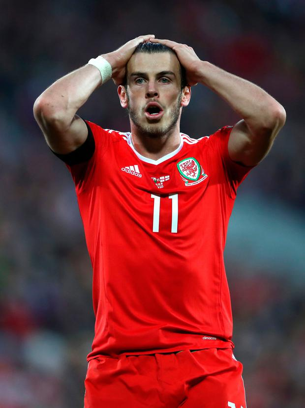 A frustrated Gareth Bale. Photo: PA