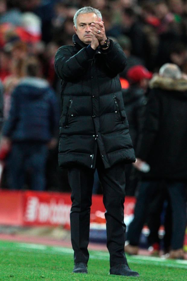 United boss Jose Mourinho. Photo: PA