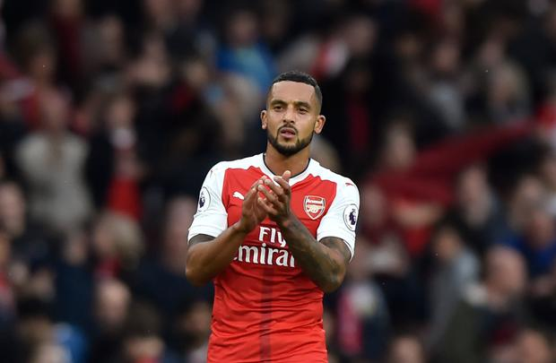 Arsenal's Theo Walcott. Pic: Reuters