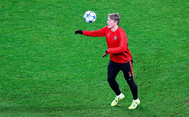 Bastian Schweinsteiger has resumed training with Manchester United. Pic: Getty Images