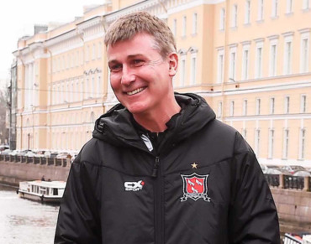Dundalk manager Stephen Kenny outside the team hotel St Petersburg. Photo: Sportsfile