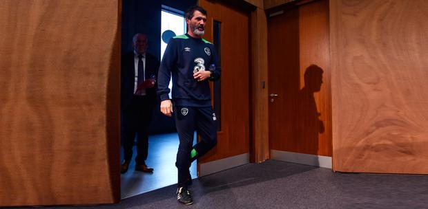 Ireland assistant manager Roy Keane pictured ahead of yesterday's press conference. Pic: Sportsfile