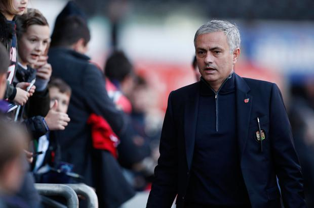 Manchester United manager Jose Mourinho. Pic: Reuters