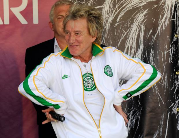Celtic fan Rod Stewart rocked Vienna last night, but football songs will take over the city in the coming days with over 3,000 Ireland supporters flying in for Saturday's match. Pic: Getty Images