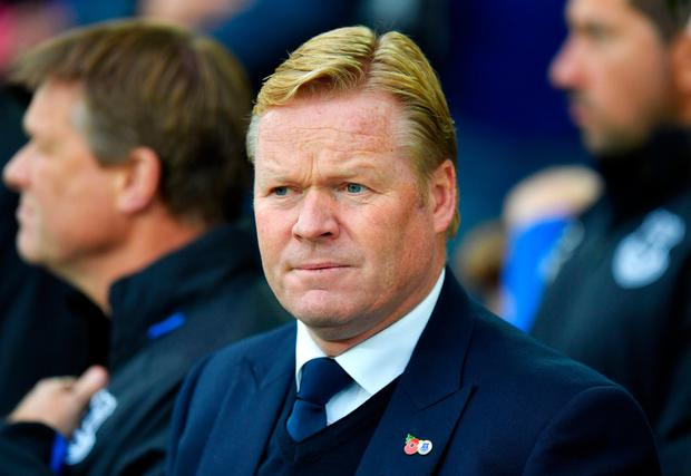 Everton manager Ronald Koeman. Pic: PA