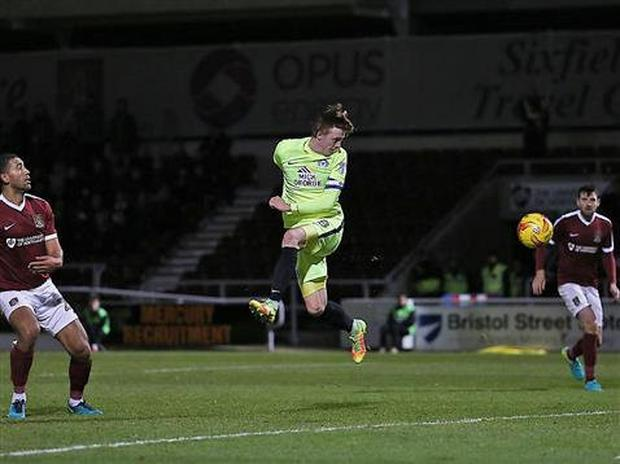 Chris Forrester, pictured here scoring the winner for Peterborough United against Northampton