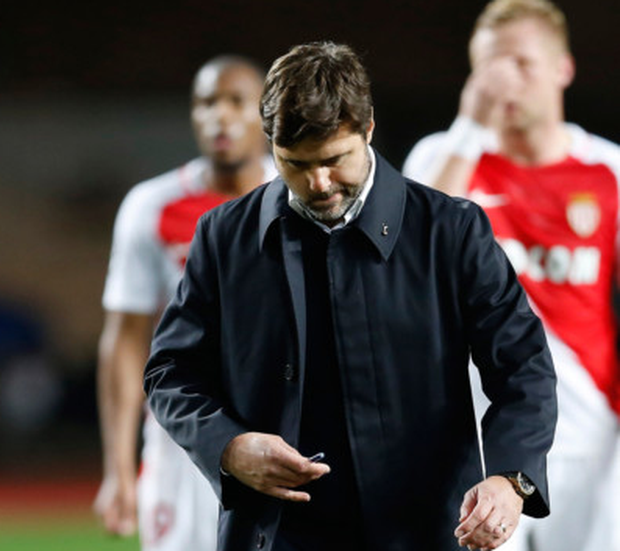 Tottenham boss Mauricio Pochettino cuts a disappointed figure after last night's defeat to Monaco