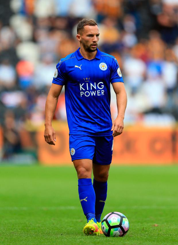 Leicester midfielder Danny Drinkwater. Photo: PA