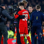Liverpool manager Jurgen Klopp is pictured with teenage star Ben Woodburn after the midweek League Cup win over Leeds